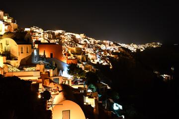 Oia by night on Santorini