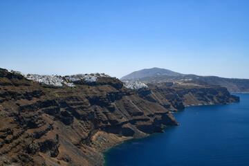 Immerovigli and fira on Santorini