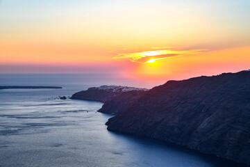 Sunset of Oia on Santorini