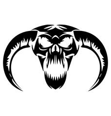 scary demon skulls vector Demon, Skulls, Scary, Skull, Halloween, Devil, Tattoo, Evil, Tribal, Devils, Head, Angels
