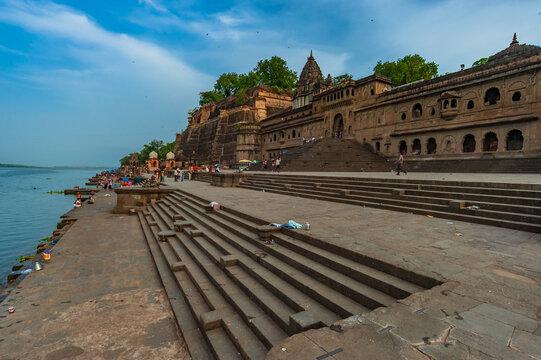 Maheshwar Situated on the banks of river Narmada in madhya pradesh,India.