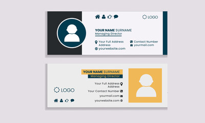 Flat and Modern Email Signature Templates