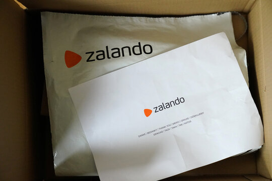 Zalando packaging from an online delivery