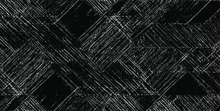 Rough texture. Broken plaster wall effect. Grunge worn damask pattern design. Distressed fabric texture. Overlay texture design. Vector illustration. Eps10.