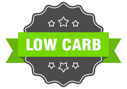 low carb label. low carb isolated seal. sticker. sign