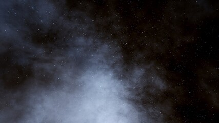 Stars in sky, starry night starlight shine of milky way, space cosmic background, starry background 3d render