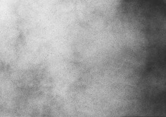 Vintage black and white noise texture. Abstract splattered gradient background for vignette.