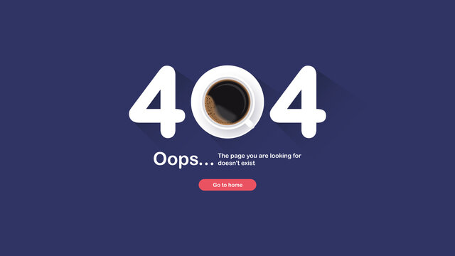The page not found. Error 404