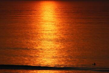 Deurstickers Rood paars Pacific Sunset