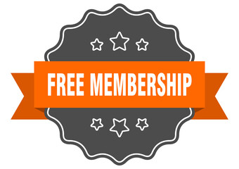 free membership label. free membership isolated seal. sticker. sign