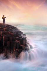Photo sur Plexiglas Peche fishing on the sea