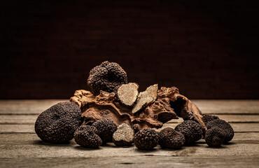 Fototapeta Black truffle mushroom obraz