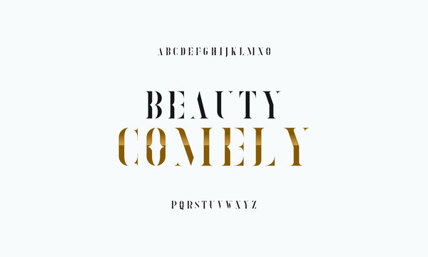 Beauty font serif collection. Decorative typography set.