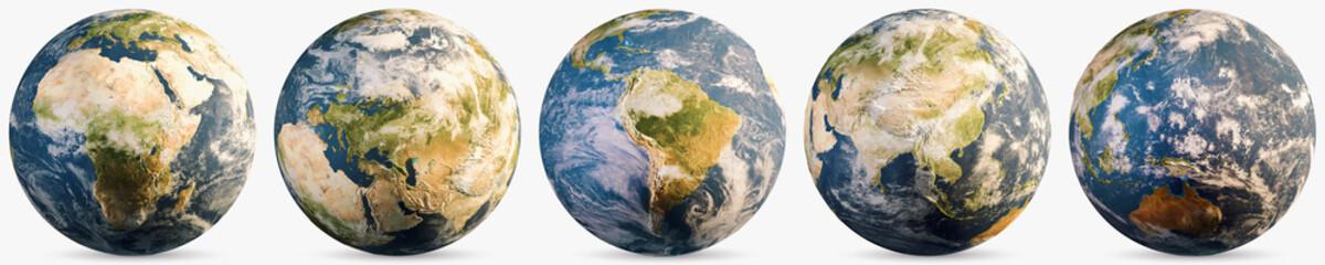 Wall Mural - Planet Earth ecology globe set
