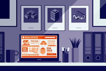 Real estate ads online