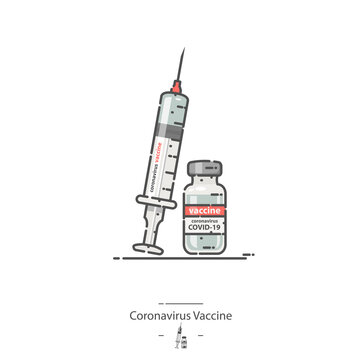 Coronavirus Vaccine - Line color icon