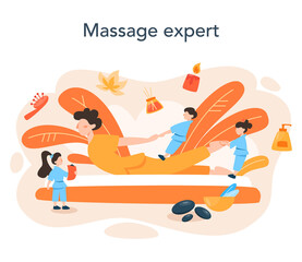 Massage and masseur concept. Spa procedure in beauty salon.