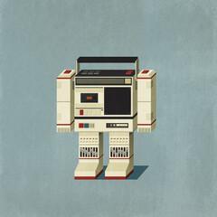 Cassette tape player robot