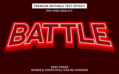 Wall Mural - Editable text effect style battle esport