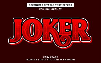 Wall Mural - Editable text effect style joker