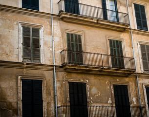 facade of a house in the inner city of Palma de Mallorca, Spain