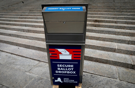 New York State and City legislators rally for legislation to allow absentee ballot drop box locations across the state in New York
