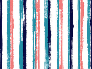 Ink hand drawn straight lines vector seamless pattern. Cute decorative wallpaper design. Old style