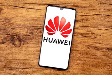 HUAWEI LOGO on a cellphone screen