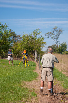 Land Survey Crew working in the field