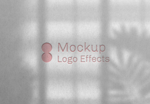 Paper Cut Out Logo Effect Mockup