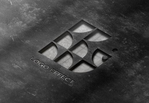 Pressed Logo Effect Mockup