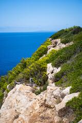 beautiful cliff on the balearic island Mallorca, Spain
