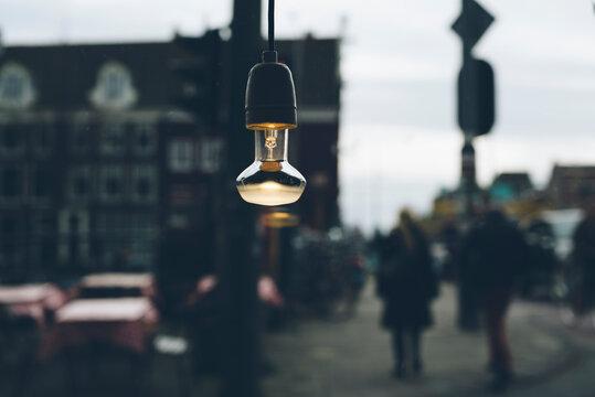 Light bulb in the city