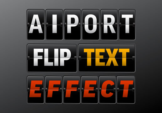 Airport Board Flip Editable Text Style Effect