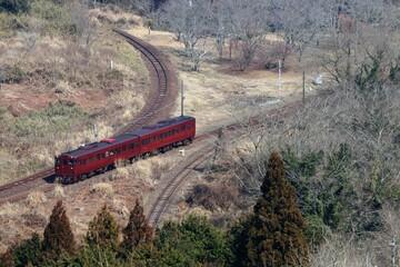 大畑駅のスイッチバックの風景