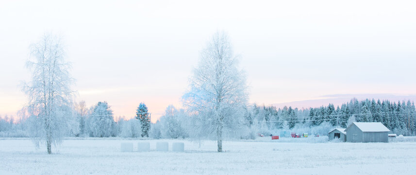winter landscape in Sweden