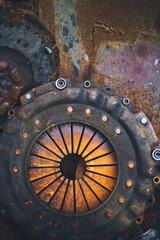 scrap clutch in vehicle repair plant