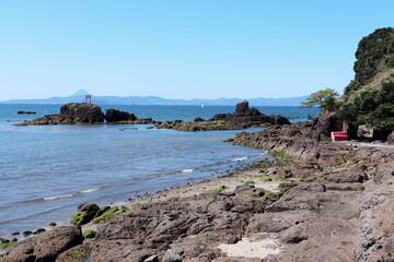 鹿屋市 高須海岸の風景