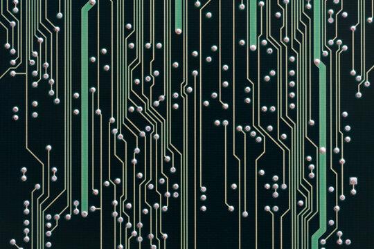 Black printed circuit board background