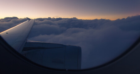 sunrise view from plane