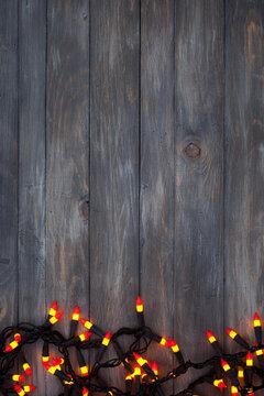 Halloween: Candy Corn Lights Background