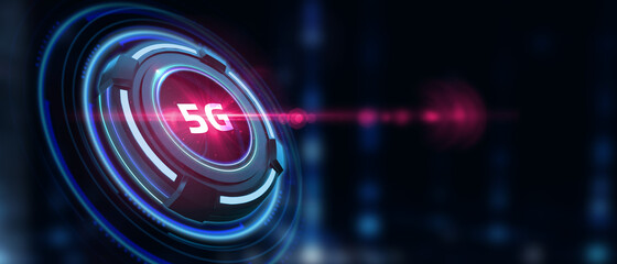 The concept of 5G network, high-speed mobile Internet, new generation networks. Business, modern technology, internet and networking concept.
