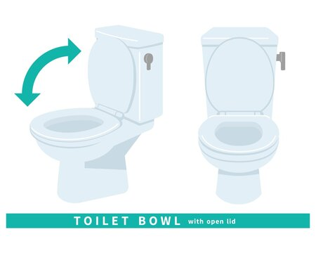トイレ 便器 清潔 掃除 修理 水洗 タンク 斜め 蓋の開いた