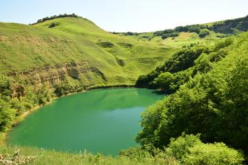 Karst mountain lake