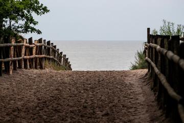 Wejście nad morze. Polska. Morze Bałtyckie