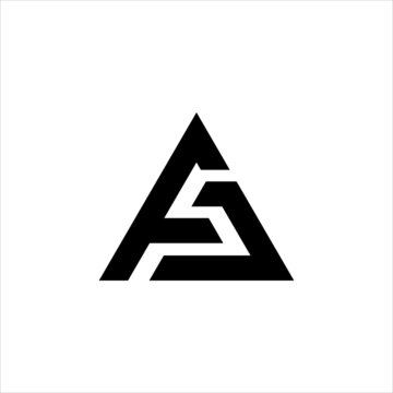 Initial AC logo design, Initial AC logo design with triangle style