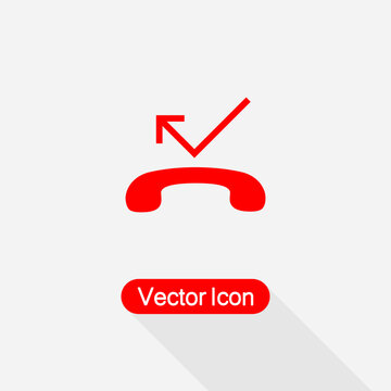Missed Call Icon Vector Illustration Eps10