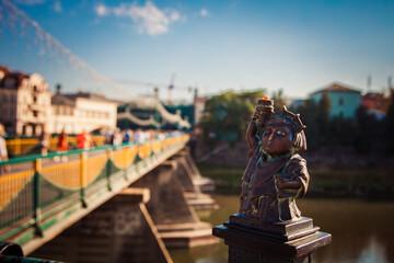 Uzhhorod, Ukraine - July 2, 2017: Statue of Liberty mini sculpture