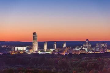 Fototapete - Albany, New York, USA City Skyline