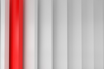 Abstract red and white motion design. 3D background striped symmetric lines. Seamless Pattern. Geometric wallpaper. Regular Red and White Striped Texture Fotobehang